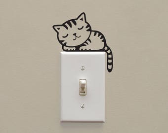 Cat Light Switch Etsy