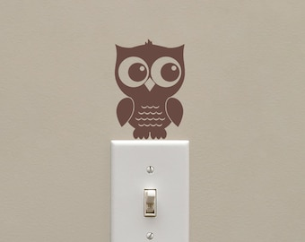Owl Light Switch Cover Etsy