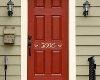 d4eea850ea23 Number Decal for Front Door Address Decal Outdoor Decal | Etsy