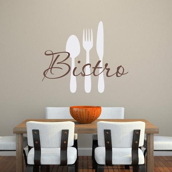 Bistro Wall Decal Kitchen Decal Kitchen Utensils Wall Art