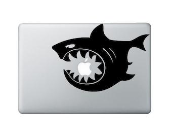 Shark Bite Laptop Decal - Shark Macbook Decal - Laptop Sticker