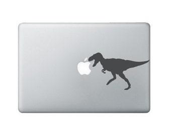 Tyrannosaurus Rex portable autocollant - Sticker Macbook dinosaure