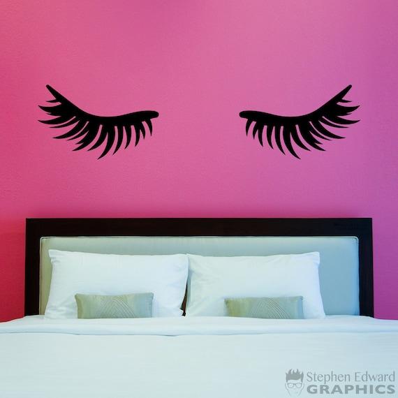 Ciglia ciglia Decal - arredamento camera da letto ragazza - arte della  parete