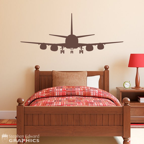 Airplane Boy Bedroom Decal Plane Wall Decor Airplane Etsy