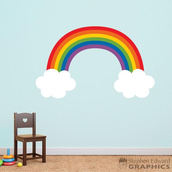 Rainbow Wall Decal - Playroom Wall Art - Children Bedroom Decor