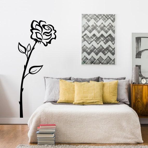 Rose Wall Decal - Flower Wall Sticker - Teen Bedroom Decor - Girl Decal