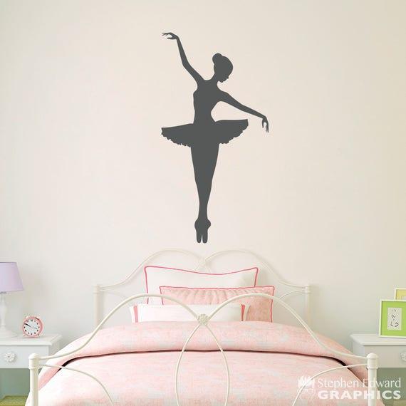 Ballerina Wall Decal - Girl Bedroom Decor - Dancing Wall Art - Ballet  Sticker