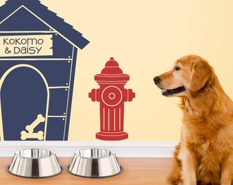 Fire Hydrant Decal - Dog Wall Decor - Pet Gift