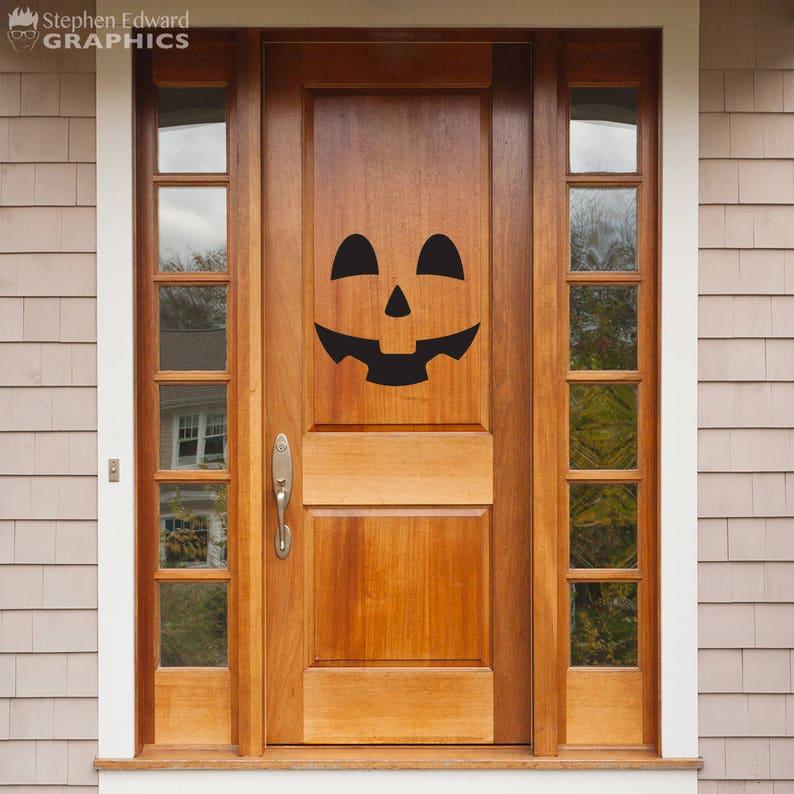 Halloween Wall Sticker Happy Face Jack-o-lantern Door Decal
