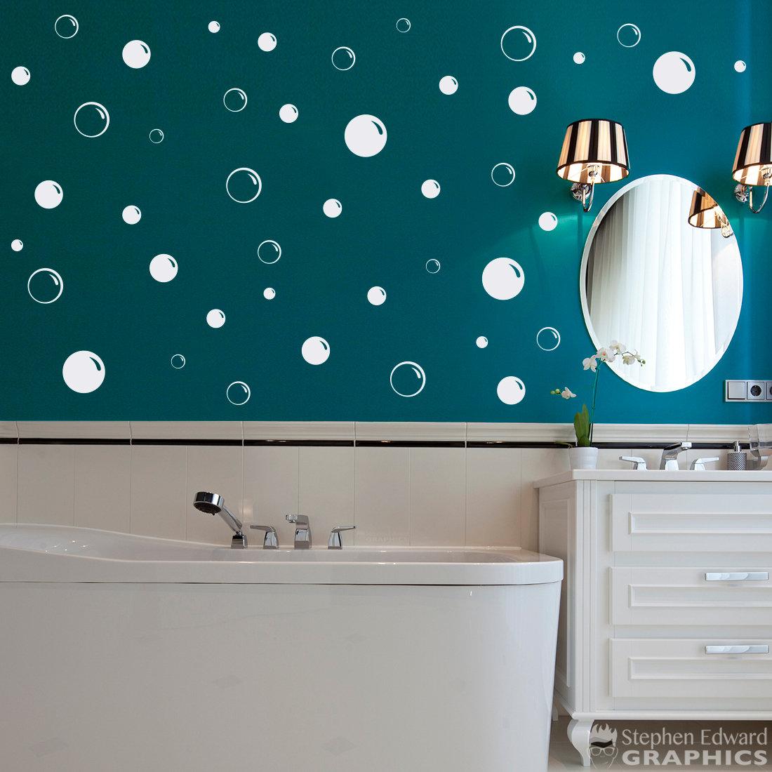 Details about  /wall art bathroom shower tile removable decor decal mural kid sticker bubble、 JC