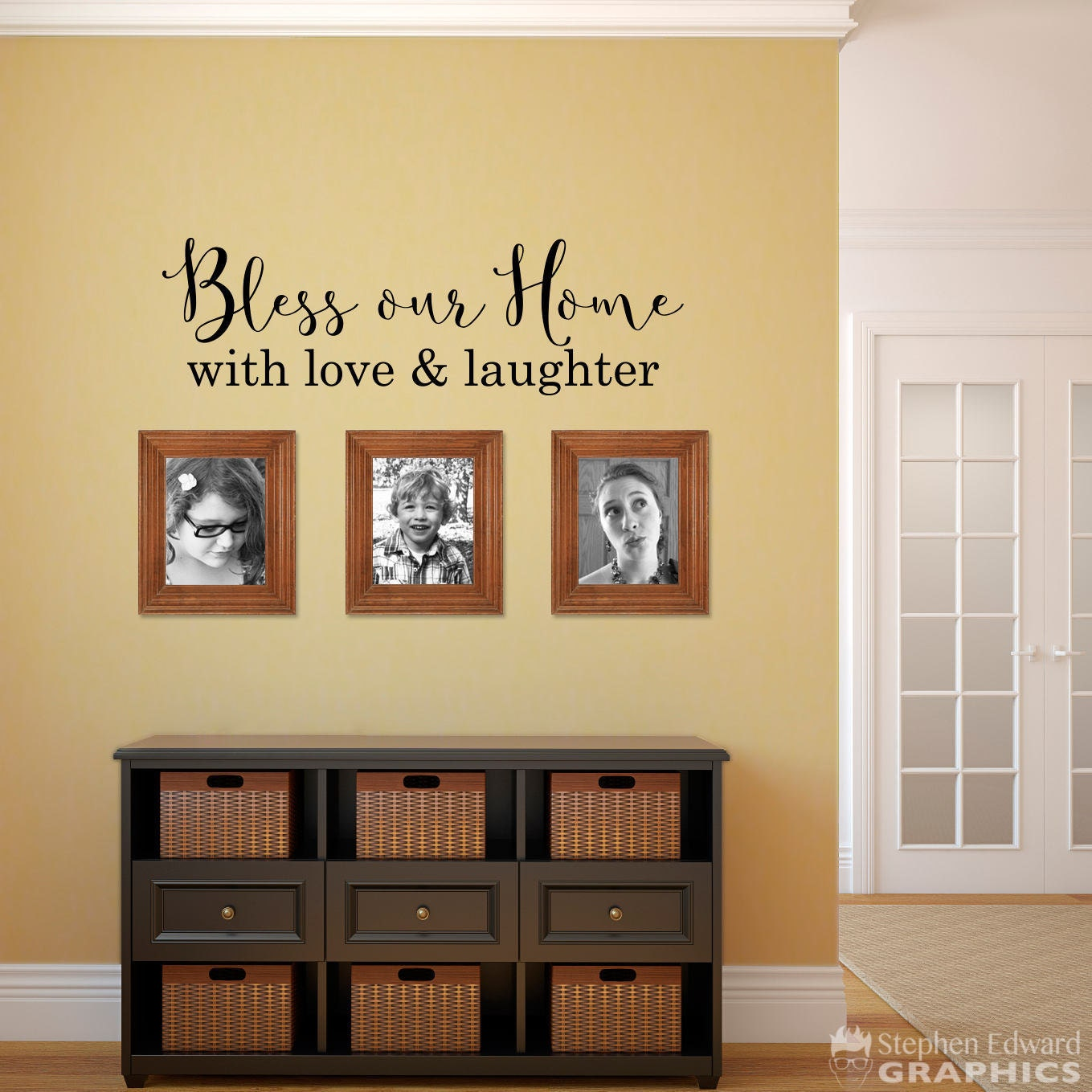 Bless our Home with love & laughter Decal Home Wall Decal | Etsy