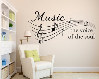 Music Wall Decal - the voice of the soul - Music Notes Wall Art