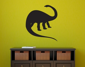 Apatosaurus Dinosaur Wall Decal - Brontosaurus Wall art - Dinosaur Wall Sticker
