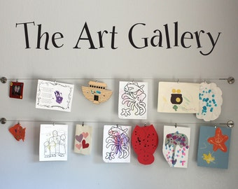 The Art Gallery Wall Decal - Children decal - Kids Artwork Display Decal