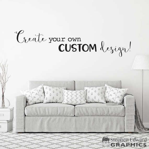 custom decal design create your own custom design design | etsy