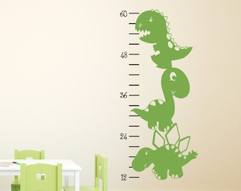 Dinosaur Growth Chart Decal - Dinosaur Decal - Boy Bedroom Decor - Growth Chart Sticker