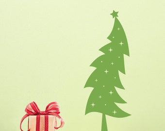 Christmas Tree Wall Decal - Holiday decal - Christmas Wall sticker - Holiday Decor - Medium