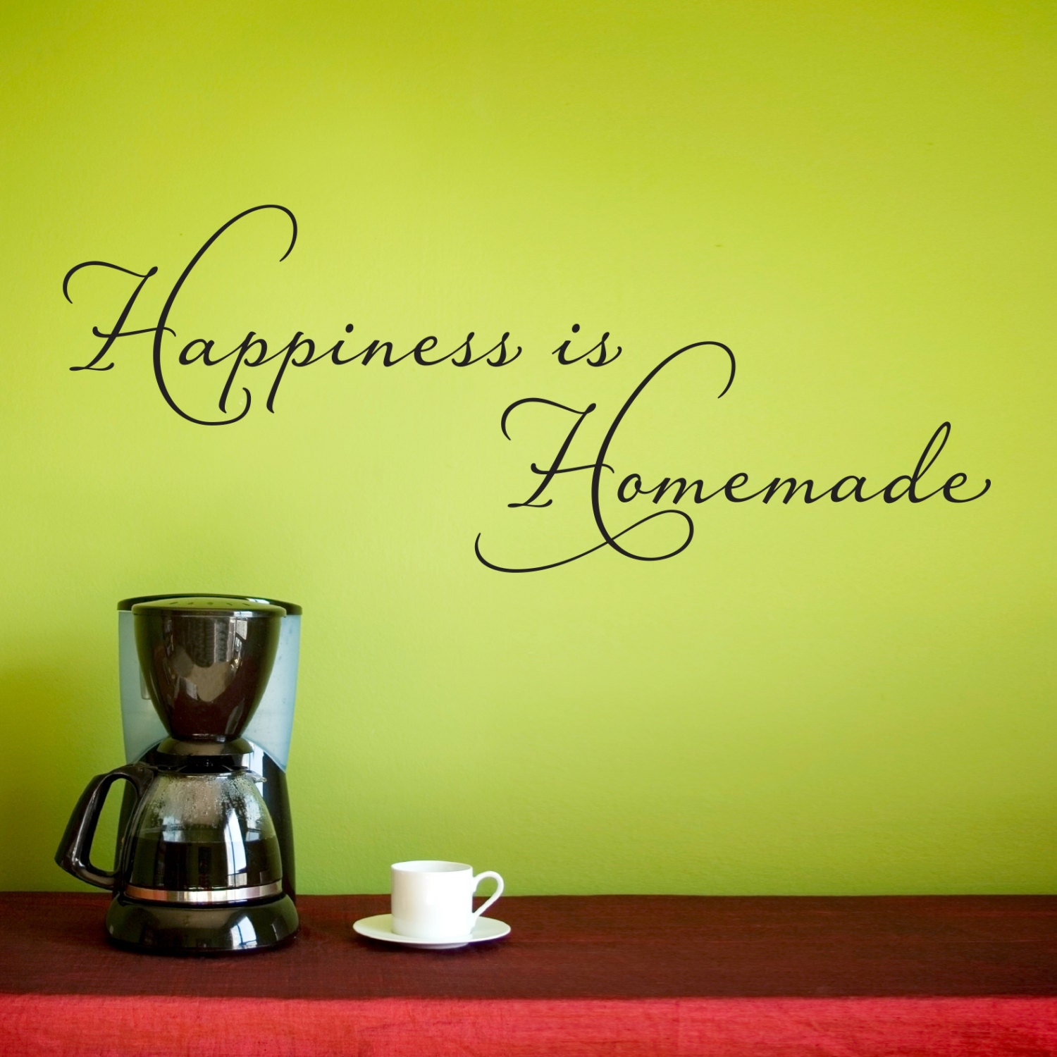 Happiness is Homemade Wall Decal Kitchen Wall Sticker | Etsy
