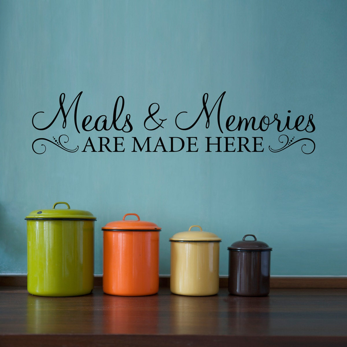 Kitchen Wall Groupings: Meals & Memories Decal Kitchen Quote Wall Decal Meals And