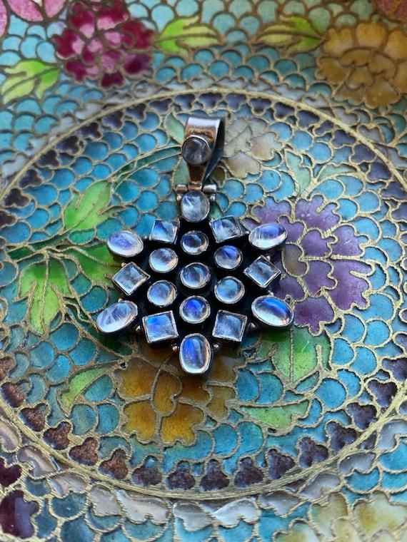 Moonstone Necklace - Sterling Silver - Vintage