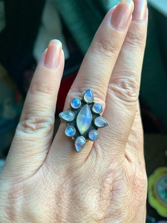 Moonstone Ring - Sterling Silver - Vintage
