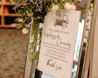Wedding Sign - Unplugged Sign - Wedding Decor - Unplugged Wedding Sign