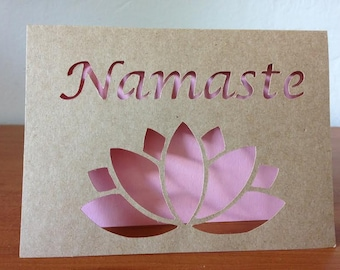 Namaste paper cut out card