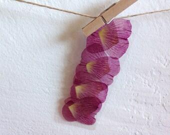 Real pressed flowers laminated bookmark - hollyhock