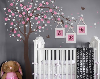 Tree Wall Decals - Cherry Blossom Tree Decal -  Ceiling Style - LARGE Wall Decal