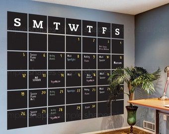 Chalkboard 2018 Wall Decal Calendar, Blackboard Calendar, Wall Calendar, Chalkboard Calendar Wall Sticker, Extra Large Calendar