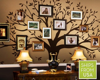 Family Tree Decal - Photo frame tree Decal - Family Tree Wall Sticker - Living Room Wall Decals - wall graphic