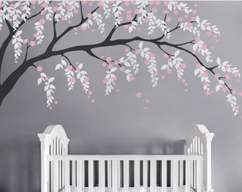 Cherry Blossom Wall Decal, Cherry Blossom Decal, Baby Nursery Wall Decal, Willow Tree Wall Decal, Nursery Design