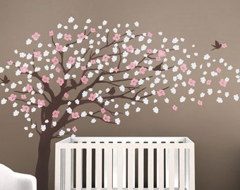Tree Wall Decals - Cherry Blossom Tree Decal - Elegant Style - LARGE