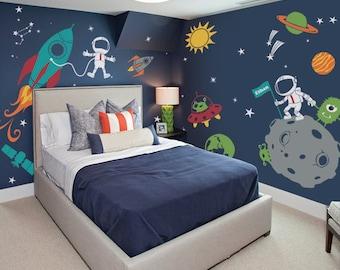 Superb Outer Space Wall Decal, Stars, Planets, Astronaut, Rocket Ship   Kids Wall  Decals