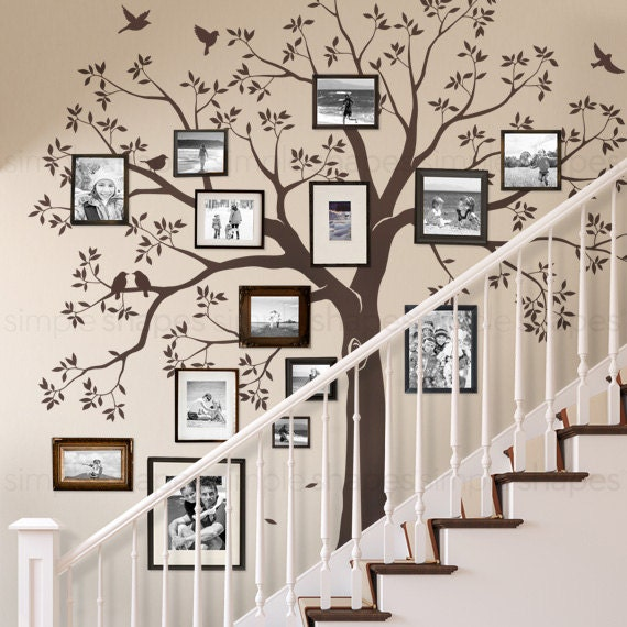 Staircase family Tree Wall Decal Tree Wall Decal Sticker ...
