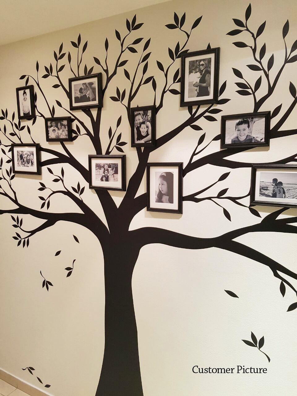 Wandtattoo Stammbaum Wandtattoo Foto-Rahmen-Baum Aufkleber | Etsy
