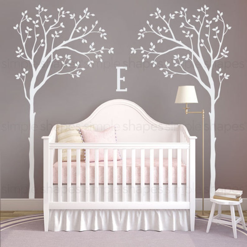 tree wall decal bed canopy tree baby nursery designs | etsy