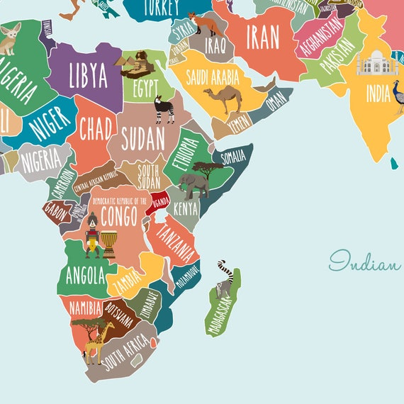 World map decal countries of the world map kids country etsy world map decal countries of the world map kids country world map poster peel and stick poster sticker world map w1126 gumiabroncs Images