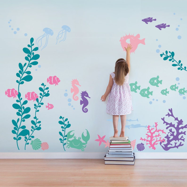 Under the Sea Wall Decal Collection Scheme B