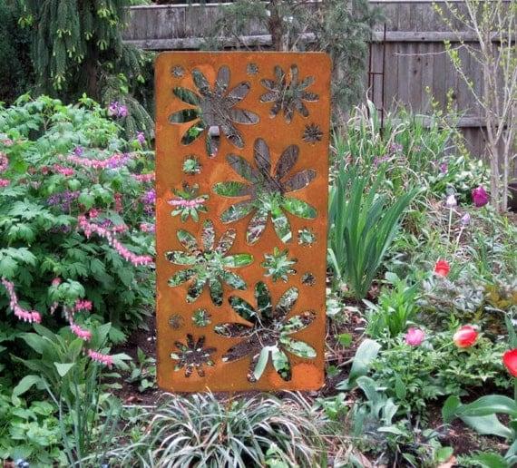 Privacy Accent Screen Garden Art Outdoor Room Divider | Etsy