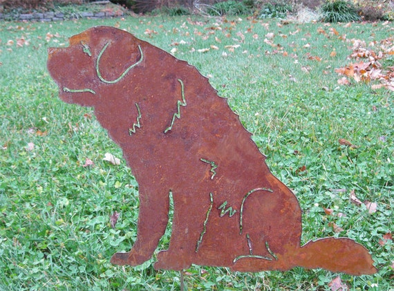 St. Bernard Garden Stake or Wall Hanging / Pet Memorial /