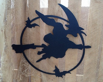 Witch / Halloween Witch / Scary witches / witches / Hanging / Garden Art / Halloween Decoration / Wall / Silhouette