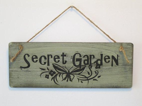 Secret Garden Sign Wooden Garden Signs Rustic Wooden Garden Signs Gardening Gift Ideas Garden Signs Sayings