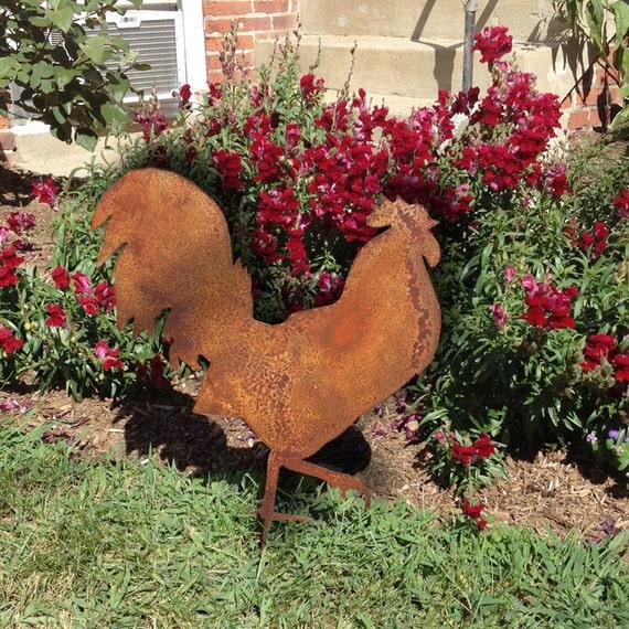 Merveilleux Rooster Garden Stake Or Wall Hanging Garden Art Chicken | Etsy