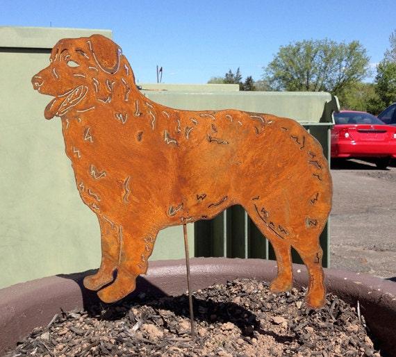 Australian Shepherd Garden Art Or Metal Wall Art Personalized Etsy