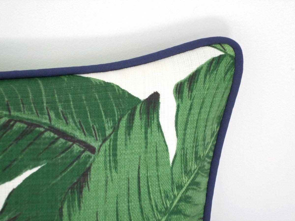 housse de coussin ext rieur en feuille palmier tropical etsy. Black Bedroom Furniture Sets. Home Design Ideas