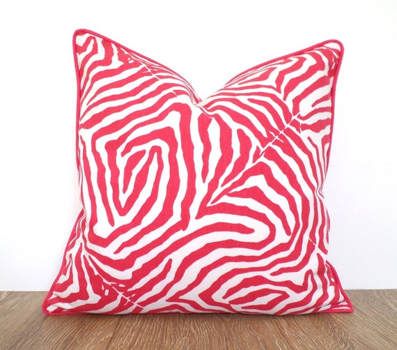 Pink Zebra Print Pillow Cover 40x40 For Nursery Decor Animal Custom Pink Zebra Print Decorative Pillows
