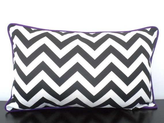 Sensational Black And White Lumbar Pillowcase Geometric Pillow Cover 20X12 Chevron Chair Cushion For Bedroom Black And Purple Sofa Cushion Gmtry Best Dining Table And Chair Ideas Images Gmtryco