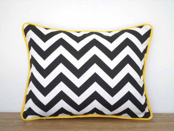 One Black Outdoor Pillow Cover 16x12 Geometric Outdoor Etsy