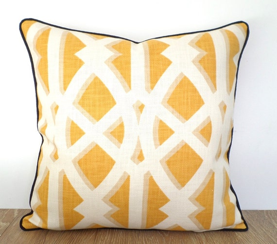 Yellow Throw Pillow Case 20x20 Large Sofa Cushion Cover Etsy
